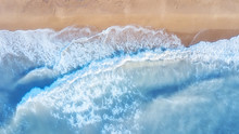 Aerial View On The Waves. Beau...