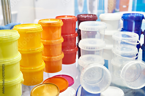 Plastic store containers for food