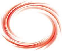 Vector Abstract Red Swirl Background