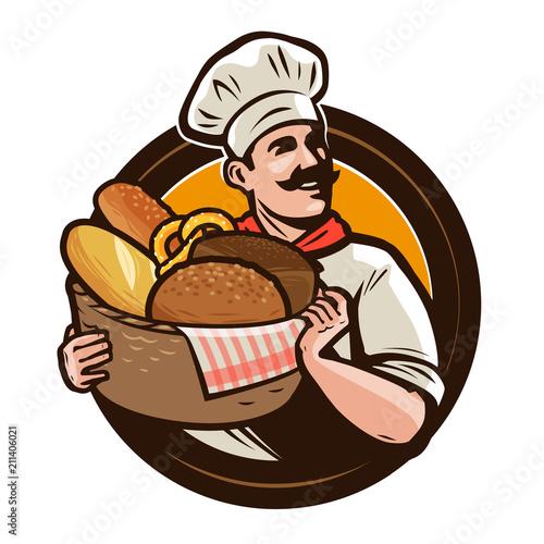 Photo Bakery, bakehouse logo or label