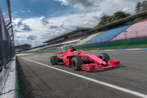 Photo Stands Motor sports Formel Rennwagen auf der Startgeraden