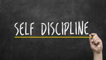 Self Discipline Concept. Hand ...