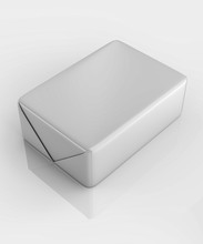 3D Rendering, Packaging, Cube, Lard, Butter