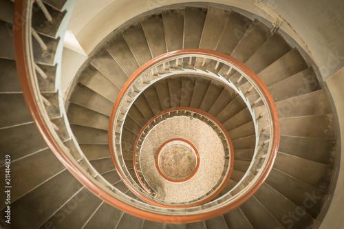 Treppe im Leuchtturm Fototapet
