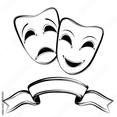 Fototapeta Theatrical masks