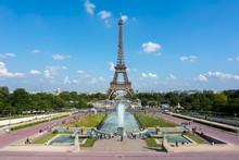 Eiffel Tower And Trocadero Fountains, Paris, France