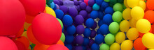 Colorful Balloons Background. ...