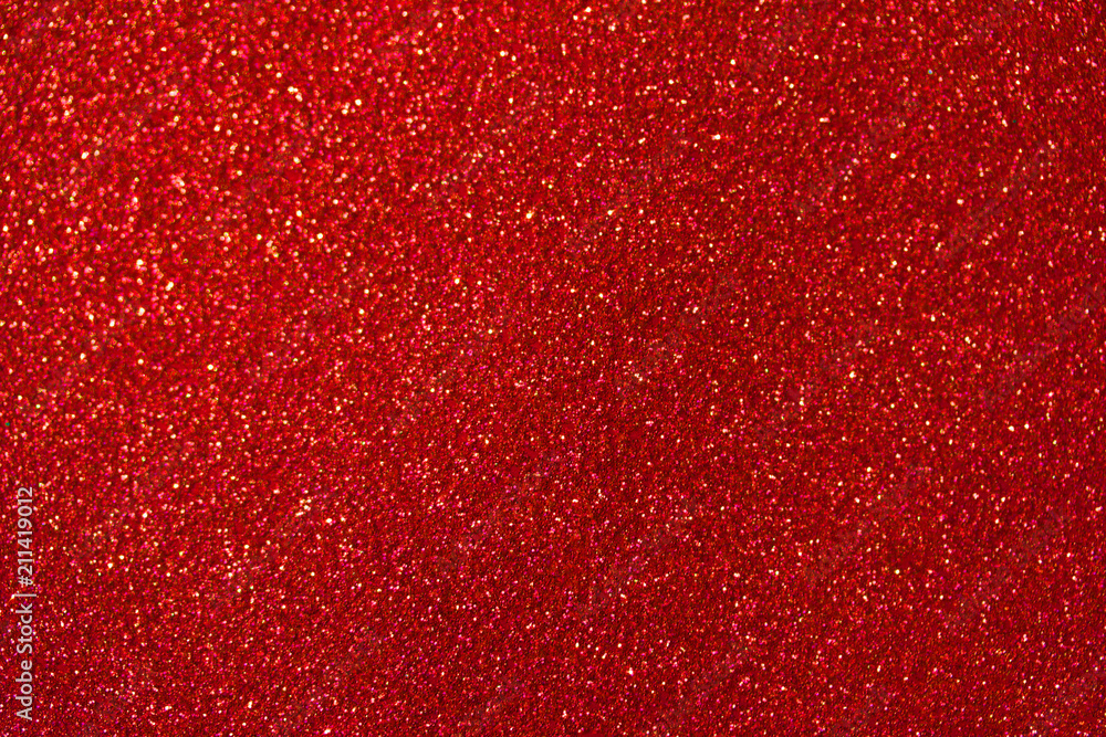 Fototapety, obrazy: Beautiful red glitter macro abstract background with bokeh