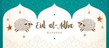 Muslim Holiday Eid Al-Adha Car...