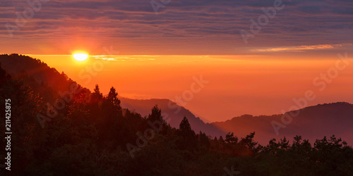 Fotografie, Obraz  Alpine Mountain Sunset