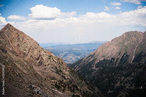 Foto op Aluminium Grijze traf. Scenic, landscape view of mountains on a hike near Vail, Colorado.