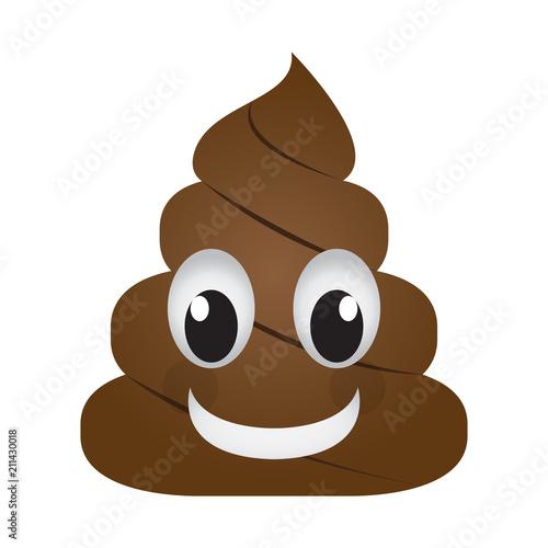Fototapeta Happy poop emoji