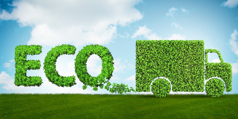 FototapetaConcept of clean fuel and eco friendly cars - 3d rendering