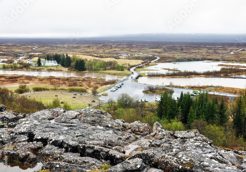 Spoed Foto op Canvas Wit beautiful nature of Iceland, volcanic landscape covered with moss
