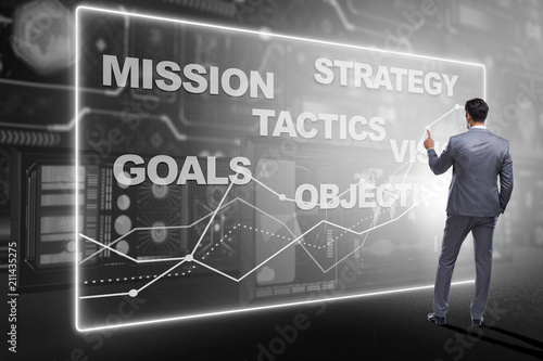 Fotomural Businessman in strategic planning concept
