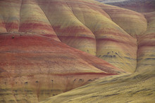Striated Red And Brown Paleosols In The Painted Hills