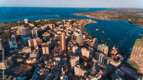 Aluminium Prints Sydney aerial view of the haven of peace, city of Dar es Salaam