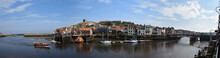 Panorama Of Whitby Town And Harbor, Whitby, North Yorkshire, UK - Sep 2017