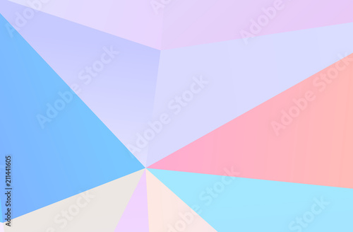 Photo  The combination of colored geometric shapes