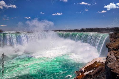 Küchenrückwand aus Glas mit Foto Wasserfalle Canada, Majestic Niagara Waterfall