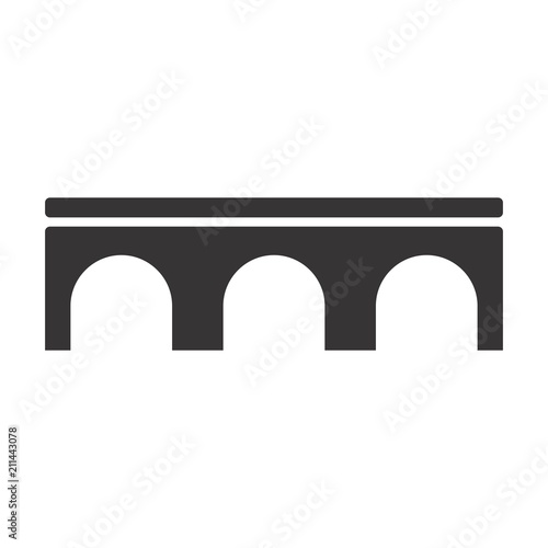 Photo bridge logo. connection icon. architecture symbol. vector eps 08.