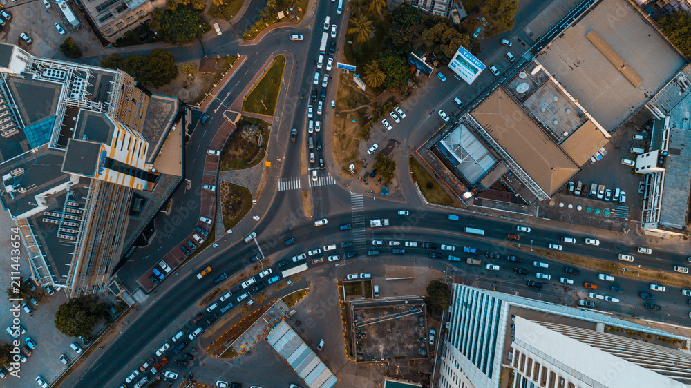 Fototapety, obrazy: aerial view of the haven of peace, city of Dar es Salaam