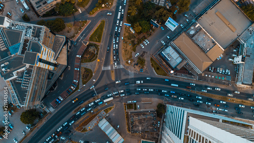 Fotografie, Obraz  aerial view of the haven of peace, city of Dar es Salaam