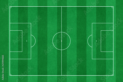 Photo  Green soccer stadium field top view
