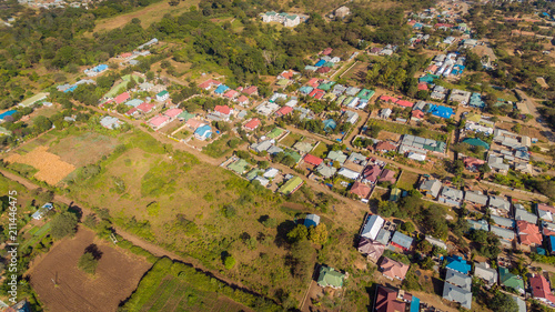 Valokuva  aerial view of Arusha town