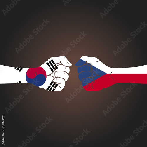 Conflict between countries: South Korea vs Czech Republic Poster
