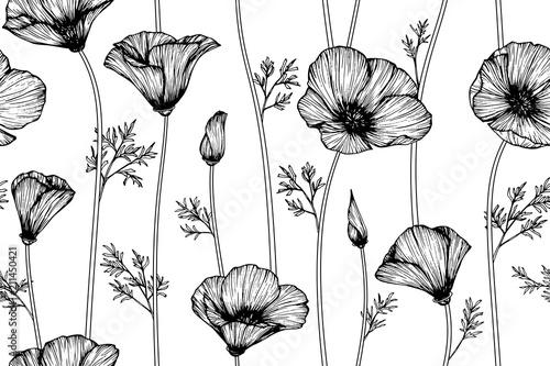 Seamless california poppy flower pattern background buy this seamless california poppy flower pattern background mightylinksfo