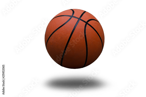 In de dag Bol Basketball ball over white background