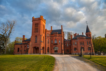Old Red Brick Manor House In T...