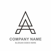 Monogram Letter A Geometric Triangle Architecture Interior Construction Business Company Stock Vector Logo Design Template