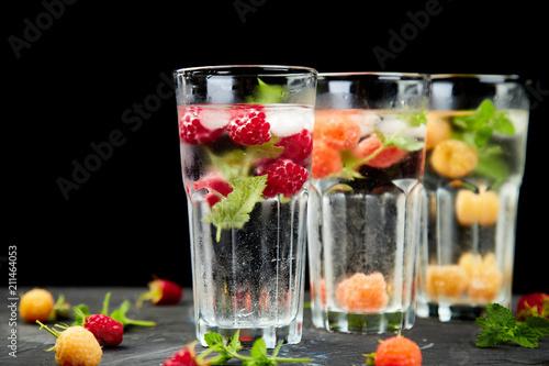 Obraz na plátně Detox infused flavored water