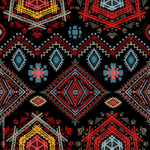 Canvastavla  Ethno seamless pattern