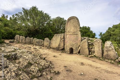 Photo  Giants' grave of Coddu Vecchiu built during the bronze age by the nuragic civili