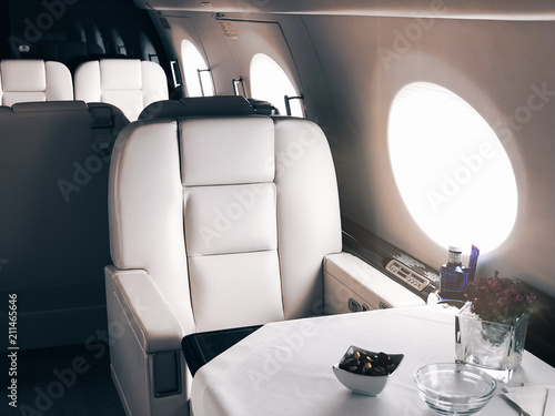 Cuadros en Lienzo Interior of a private luxury jet