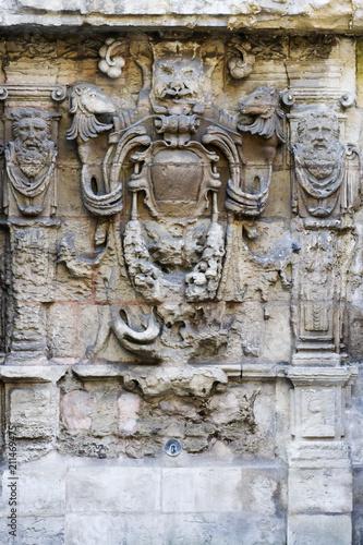 In de dag Fontaine Fontaine Sainte-Croix-des-Pelletiers à Rouen . 17 ème S
