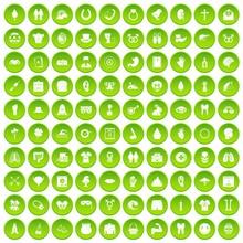 100 Spring Holidays Icons Set ...