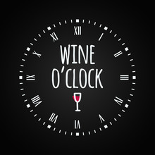 Wine Glass Concept With Clock ...