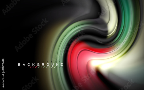 Staande foto Wanddecoratie met eigen foto Fluid liquid colors design, colorful marble or plastic wavy texture background, glowing multicolored elements on black, for business or technology presentation or web brochure cover design, wallpaper