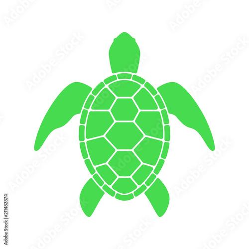 Naklejka premium Sea turtle. Turtle silhouette. Vector icon isolated on white background.