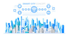 Smart City With Smart Services And Icons