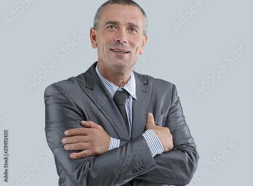 Obraz na plátně  face of a successful businessman