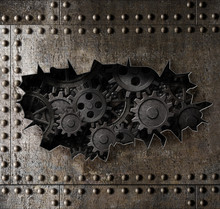 Old Metal Armour Background Wi...