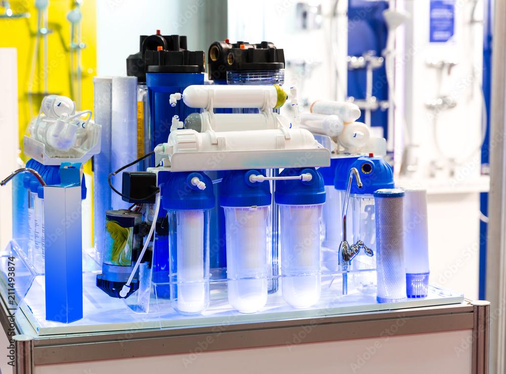 Fototapeta Reverse osmosis, water cleaning filter