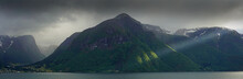 Light Rays On Sognefjord , Nor...