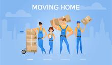 Cartoon Loaders Movers Team