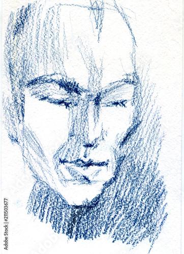 olowkowy-portret-mezczyzna-pastelowa-ilustracja-na-bialym-papierze